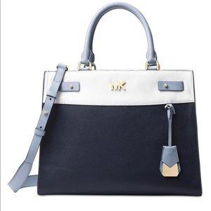 Blue and White MK purse.
